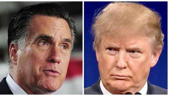 Guerra de republicanos: Mitt Romney llama farsante a Trump