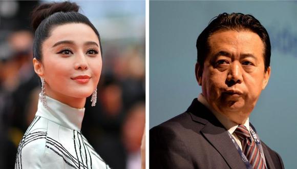 La mayor estrella de cine de China y el presidente de Interpol desaparecieron recientemente. Luego se conoció que fueron detenidos. (Foto: AFP)