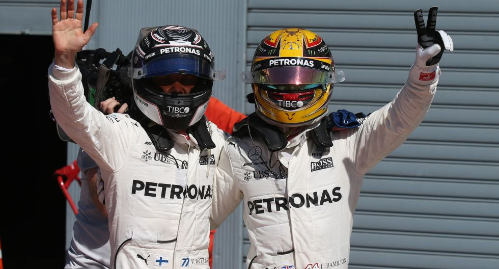 Mercedes hizo el 1-2 en Monza. (Fotos: Media Daimler)
