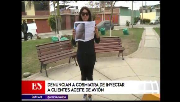 Féminas tendrán que ser intervenidas quirúrgicamente para retirarles el aceite de avión. (Foto: Captura de video / América Noticias)