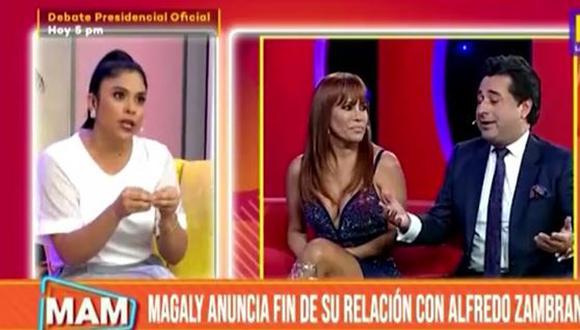 Maricarmen opina sobre el fin del matrimonio de Magaly Medina. (Foto: captura de video)
