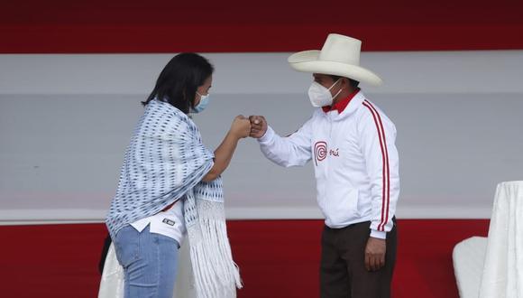 Este sábado 1 de mayo se llevó a cabo el debate presidencial entre los candidatos Keiko Fujimori (Fuerza Popular) y Pedro Castillo (Perú Libre) en la ciudad de Chota, región Cajamarca, de cara a la segunda vuelta de las Elecciones Generales de Perú de 2021, que se realizará el 6 de junio. (Foto: Hugo Pérez / @photo.gec)