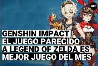 Genshi impact, el juego parecido a Zelda breath of the wild, es elegido como el mejor juego del mes por jugadores de PlayStation