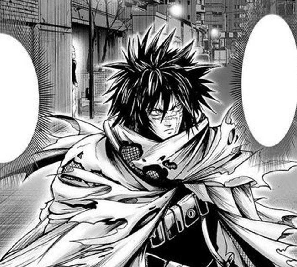 En el manga, es Garou quien sigue a Ametralladora de la muerte (Foto: One Punch Man / Shueisha)