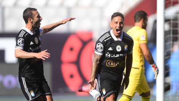 Alejandro Hohberg anotó el 1-0 en el Sporting Cristal vs. Univeristario. (Foto: Liga de Fútbol Profesional)