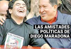 Fidel Castro, Hugo Chávez y Nicolás Maduro; las relaciones con el poder de Diego Maradona
