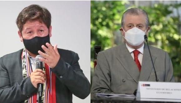 """Esta semana, el jefe del Gabinete Ministerial, Guido Bellido, afirmó que el canciller Óscar Maúrtua y el vicecanciller Luis Enrique Chávez """"tienen las puertas abiertas"""". (Fotos: GEC/Cancillería)."""