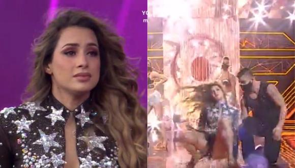 """Milett Figueroa sufrió fuerte caída en """"El artista del año"""". (Foto: Captura América TV)"""