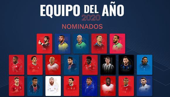 Barcelona y Real Madrid solo tienen un representante cada uno al equipo ideal de la UEFA. (Foto: uefa.com)