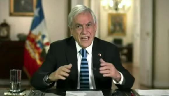 El presidente de Chile, Sebastián Piñera, hbla durante la Cumbre virtual de Líderes sobre el Clima organizada por Joe Biden. (Captura de video/YouTube).