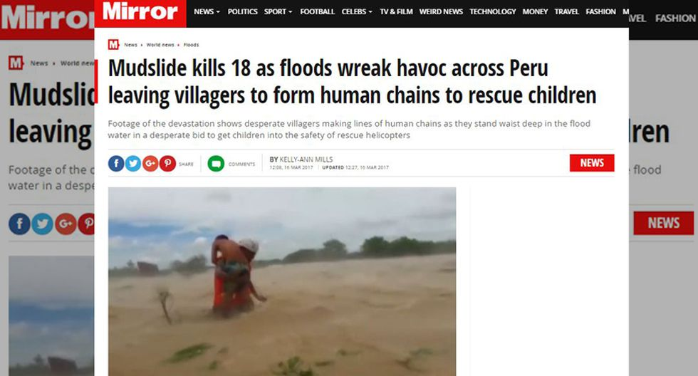 Así informa la prensa mundial sobre las lluvias en el Perú - 7