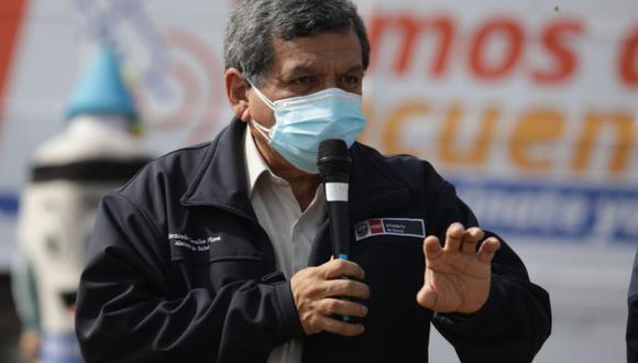 El ministro de Salud, Hernando Cevallos, cuestionó las declaraciones de Guido Bellido. (Foto: archivo GEC)