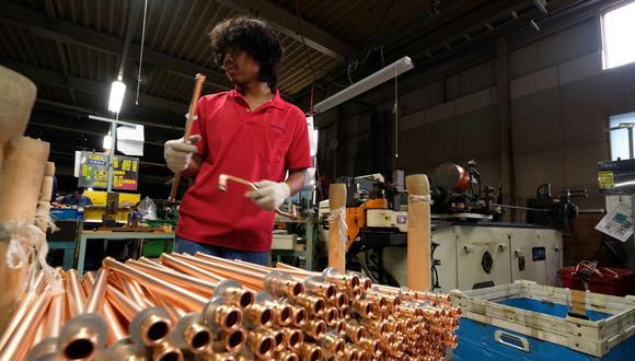 El cobre registra una pérdida semanal de 1,7%. (Foto: AFP)