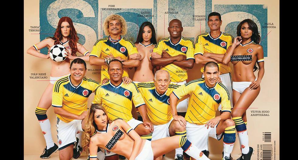 Ex futbolistas colombianos se lucen en candente sesión de Soho - 1