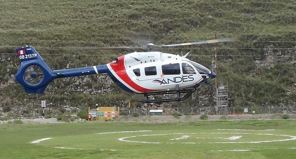 Andes Air apuesta por la minería: ya tiene dos helicópteros en el Corredor Minero del Sur (Foto: Andes).