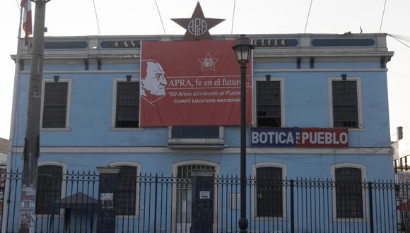 JNE sigue rechazando los recursos del Partido Aprista (Foto: GEC)  FACHADA DEL APRA  FOTOS: RENZO SALAZAR