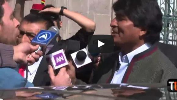 """Evo Morales llamó """"espías"""" a periodistas chilenos (VIDEO)"""