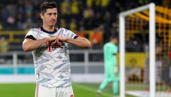 Robert Lewandowski anotó 41 goles en 29 partidos en la Bundesliga 2020-21. (Foto: EFE)