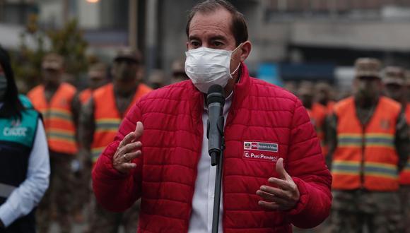 Ministro de Defensa, Walter Martos, señaló que la donación de oxígeno de la minera Southern Perú ara los hospitales de Arequipa y Moquegua no fue tratada en el Consejo de Ministros. (GEC)