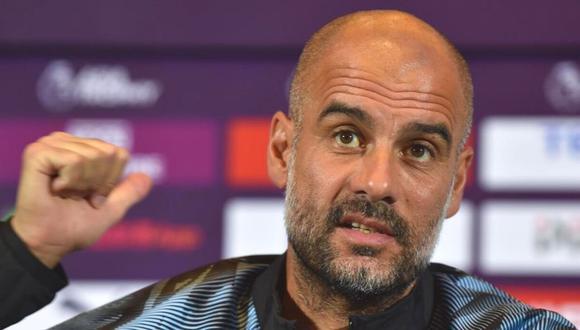 Pep Guardiola reacciona ante pregunta por Lionel Messi (Foto: AFP)