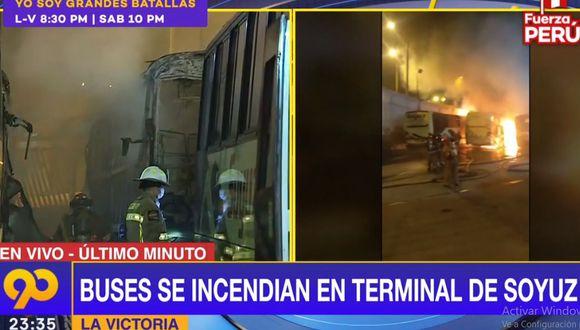 Más de 10 unidades de bomberos trabajaron para controlar el siniestro. (Latina)