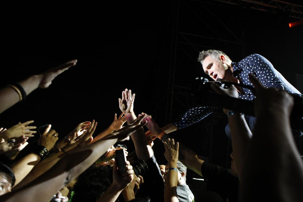 Primera visita de Steven Morrissey a Lima, en el Jockey Club, el año 2013.