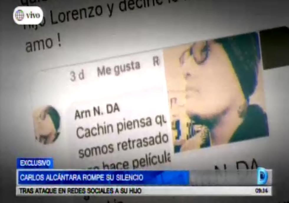 Carlos Alcántara habla sobre el ataque que sufrió su hijo en la red social. (Fotos: Capturas de pantalla)