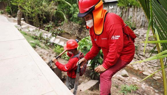 Según el ministro de Trabajo, Javier Palacios, el primer presupuesto iba a impulsar más de 35 mil empleos; sin embargo, con la nueva partida se alcanzarán los 103 mil empleos en 1,141 distritos del país, por medio del programa Trabaja Perú. (Foto: MTPE)