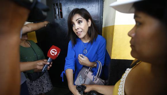 Alejandra Aramayo también visitó a Keiko Fujimori este miércoles. (Foto: Francis Neyra   GEC)