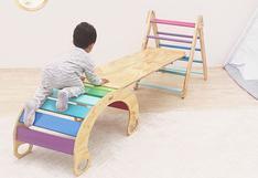 """Cómo construir """"un parque en tu casa"""" con juguetes de madera"""