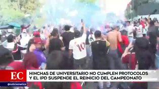 Hinchas de Universitario se aglomeran en las afueras del Estadio Nacional