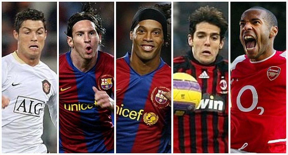 Los futbolistas más caros del 2007 con Ronaldinho a la cabeza. (Foto: AFP)