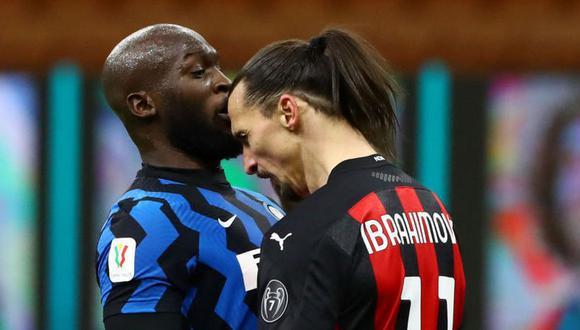 Lukaku y Zlatan discutieron airadamente el pasado 26 de enero, juntando sus cabezas desafiantemente. Este domingo se volvieron a encontrar. (Foto: AFP)
