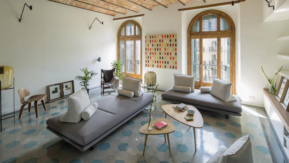 estudio Nook architects estuvo a cargo del diseño de este departamento de 118 m2 en Barcelona, España. Arte y espacios acogedores son los elementos que destacan en cada uno de los ambientes. (Foto: nieve / nookarchitects.com)