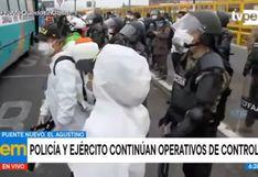 Coronavirus en Perú: refuerzan fiscalización en Puente Nuevo