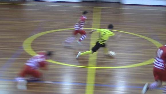 YouTube: golazo anotado en un torneo de futsal en Portugal