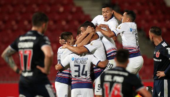 San Lorenzo rescató un empate a 1 ante U de Chile en Santiago   Foto: AFP
