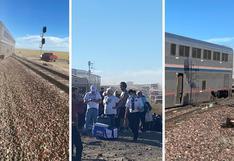 Al menos tres muertos en descarrilamiento de tren de pasajeros en EE.UU. | VIDEO