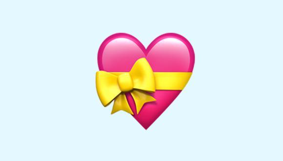Conoce qué es lo que significa realmente el corazón rosado con un lazo amarillo en WhatsApp. (Foto: Emojipedia)