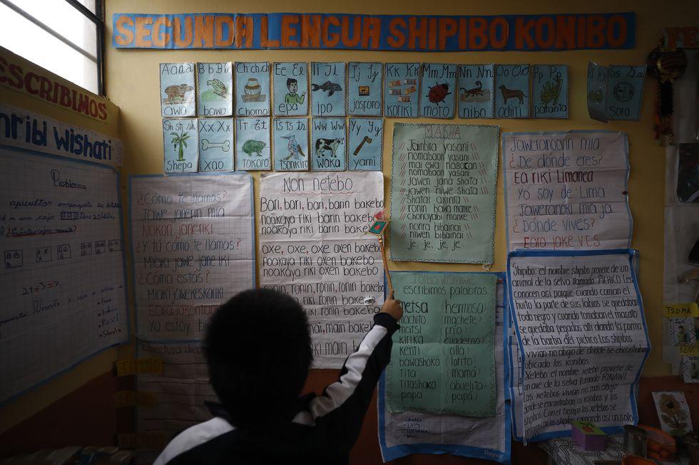 El 70% de los alumnos pertenece a la comunidad shipibo konibo de Cantagallo. El otro 30% está conformado por niños de la zona (Rímac) y extranjeros. (Foto: César Campos/El Comercio)