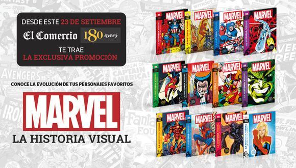 Una colección de 12 entregas donde encontrarás toda la historia visual de tus súper héroes y villanos desde 1939 hasta la actualidad.