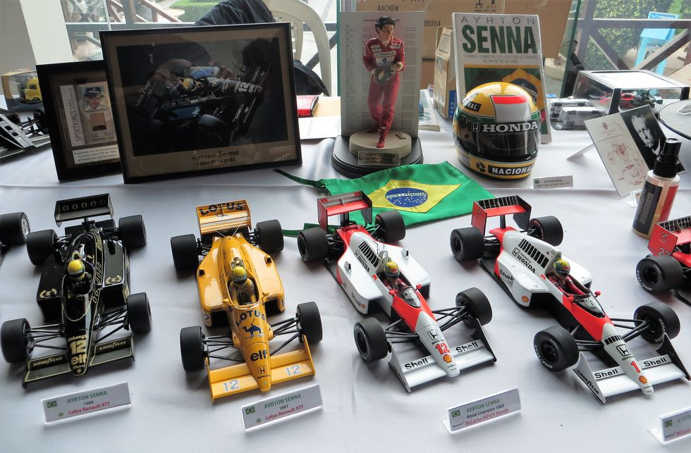 Algunas joyitas de los bólidos de la Fórmula 1.