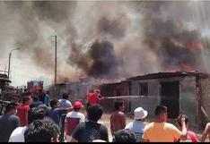 Piura: incendio arrasó con más de 30 viviendas y dejó un centenar de personas damnificadas en Sullana   VIDEO