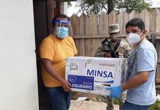Madre de Dios: 4.260 dosis de vacunas AstraZeneca llegaron a la región para inmunizar a adultos mayores