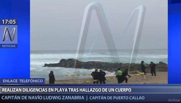 El cuerpo de José Moya fue ubicado en la playa La Escondida, al sur de Lima. (Canal N)