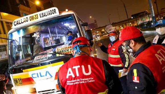 ATU informa que medida  apunta a que los operadores de transporte urbano, severamente golpeados por la pandemia del COVID-19, puede aún realizar el servicio de taxi. (Foto: ATU)