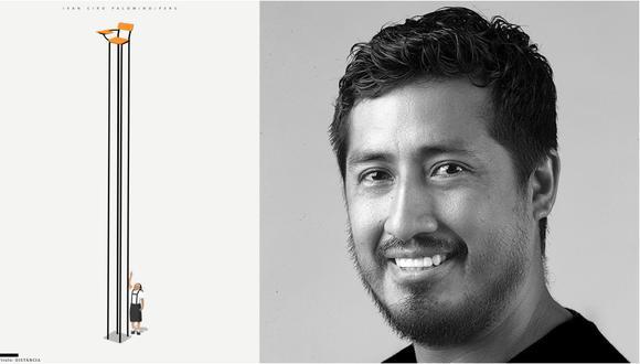 """A la izquierda, una de las obras de Iván Ciro Palomino; disponible en la exposición """"Consciência"""" que se realiza en Rio de Janeiro hasta el 21 de febrero. Fotos: Cortesía del autor."""