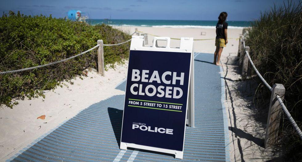 La playas en Florida, estado caracterizado por estas, se encuentran cerradas para el público. (Foto: AFP)