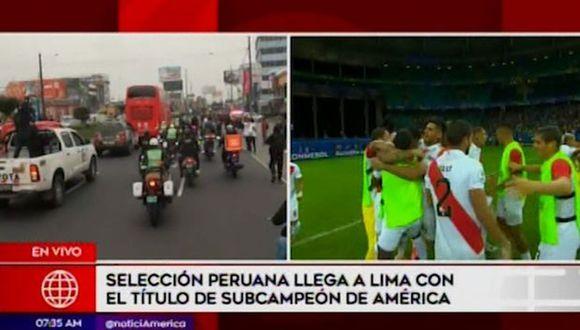 Los jugadores y comando técnico de la selección peruana se trasladaron hacia la Videna. (Foto: Captura de video)