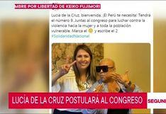 Cantante criolla Lucía de la Cruz postulará al Congreso